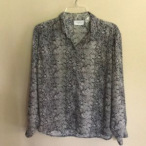 Like New button down top size PM
